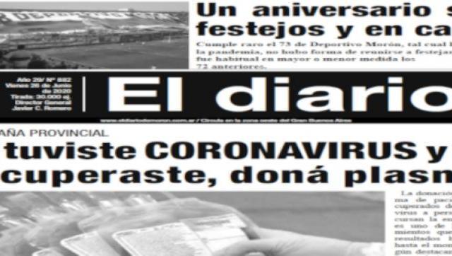 El diario N°882 - 26 de Junio de 2020