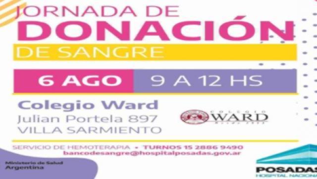 Jornada de donación voluntaria de sangre en el Colegio Ward