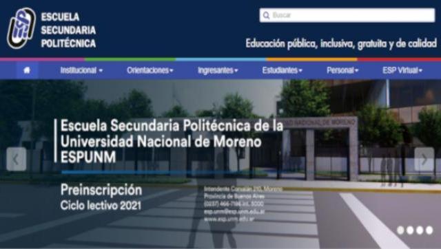 Escuela Secundaria Politécnica de la UNM - Preinscripción