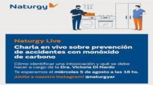 Naturgy brinda capacitación en Vivo sobre Prevención de intoxicaciones con monóxido de carbono