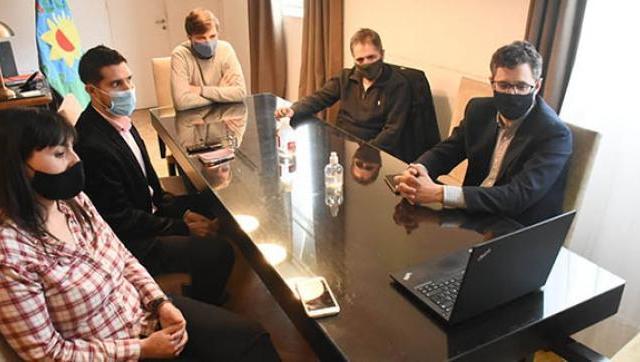 Ghi recibió al titular de la Defensoría del Pueblo bonaerense, Guido Lorenzino, y al nuevo delegado del organismo en Morón
