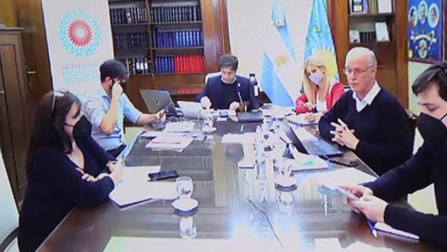 Ghi participó de un encuentro con Kicillof para analizar la situación sanitaria