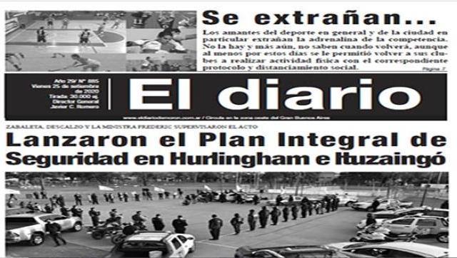 El diario N° 885 - 25 de setiembre de 2020