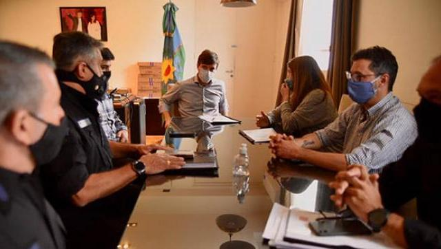 Ghi y Rodríguez juntos para articular el Plan de Fortalecimiento de Seguridad en el distrito