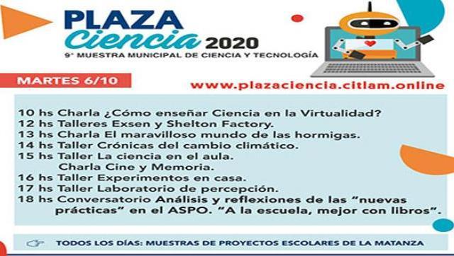 """La Matanza: 9° Muestra Municipal de Ciencia y Tecnología """"Plaza Ciencia"""""""