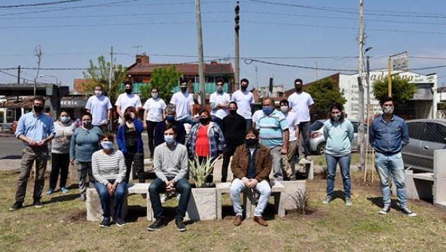 El Municipio realizó una jornada para mejorar el espacio público en el Barrio Presidente Ibáñez