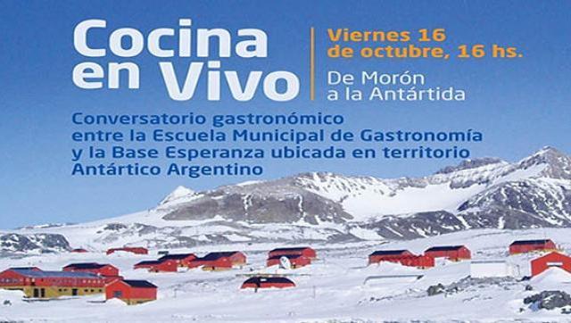 Se realizará una clase de cocina en vivo con la Base Esperanza de la Antártida
