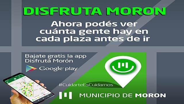 DISFRUTÁ MORÓN: app para conocer el nivel de ocupación de las plazas