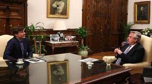 Lucas Ghi y Alberto Fernández mantuvieron una reunión de trabajo