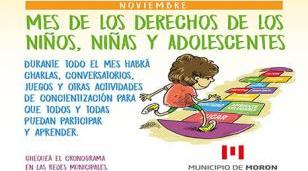 Conversatorios y actividades para niños, niñas y adolescentes en Morón
