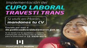 Morón avanza con la implementación del cupo laboral travesti-trans