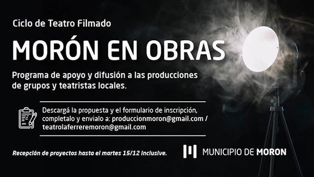 #MorónEnObras para grupos de teatros locales