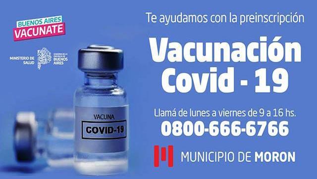 El Municipio asistirá a vecinos en la preinscripción para recibir la vacuna contra el Covid19