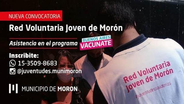Morón lanzó una nueva convocatoria a la Red Voluntaria Joven