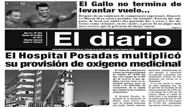 El diario N° 891 - 30 de  abril de 2021