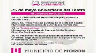 El Teatro Municipal Gregorio de Laferrere celebra su 71º aniversario