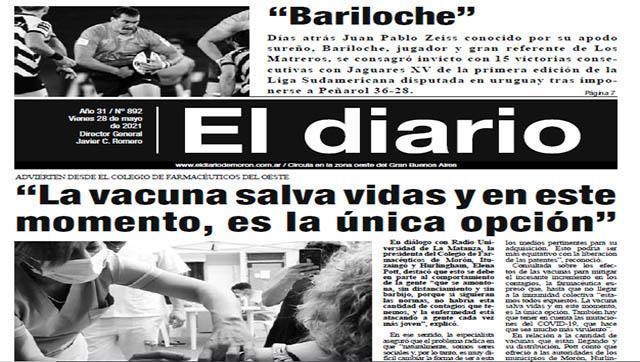 El diario N° 892 - 28 de mayo de 2021