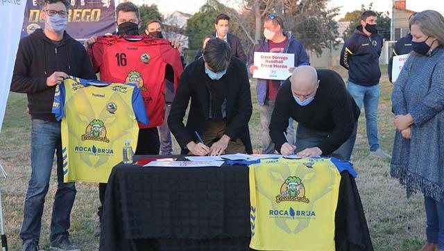 Cedieron tierras al club Dorrego Handball para la construcción de su estadio