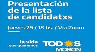 Acto de presentación de las candidatas y candidatos del Frente de Todos Morón