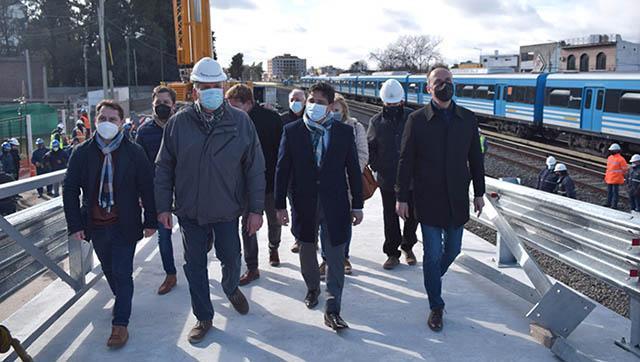 Martín Marinucci y Pablo Descalzo recorrieron el avance de los puentes modulares